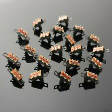 20PCS Black Mini Size SPDT Slide Switches On-Off PCB 5V 0.3A DIY Material