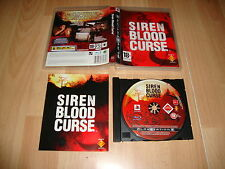SIREN BLOOD CURSE SURVIVAL HORROR PARA LA SONY PLAY STATION 3 PS3 USADO COMPLETO
