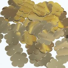 """Sequin Flower 1"""" Gold Metallic Couture Paillettes. Made in USA."""