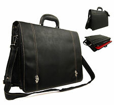 High Quality Faux Leather Business Briefcase Doctor Pilot Laptop Case Work Bag