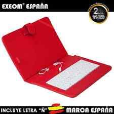 """Funda con Teclado en Español para Tablet Pc 10"""" CoverPAD Roja Marca España"""