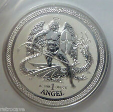 2016 Isle of Angel Reverse prueba 1oz .999 Man plata moneda del lingote