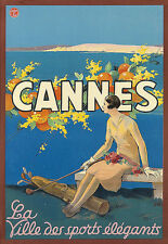 Art ad Cannes Ville des Sports Golf Travel Deco cartel impresión