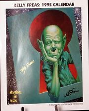 KELLY FREAS MARTIANS GO HOME PROMOTION POSTER 1995 COLLECTION CALENDAR SIGNED
