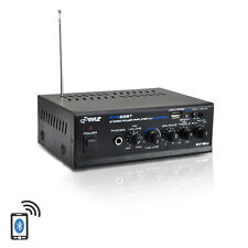 Pyle PTA22BT 2 x 40 Watt Bluetooth Mini Blue Series Stereo Power Home Amplifier