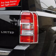 1Set ABS Chrome Taillight Cover Trim Protector Guard for Jeep Patriot 2011-2015