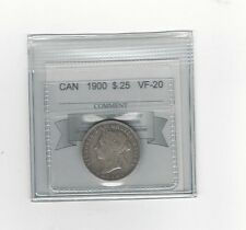 **1900**, Coin Mart Graded Canadian, 25 Cent, **VF-20**