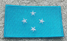 MICRONESIA FLAG PATCH Embroidered Badge IronSew 4.5x6cm Yap Chuuk Pohnpei Kosrae