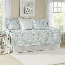 Laura Ashley Rowland Breeze 5-Piece Daybed Set Furniture Soft Comfy Simple Home