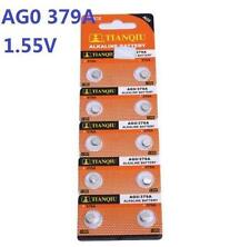 10X Batteries AG0 L521 LR63 379A SR63 Coin Button Cell Battery Watch camera ♫