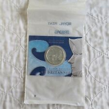 2003 £2 SILVER BRITANNIA ON ROYAL MINT PRESENTATION CARD - still mint sealed
