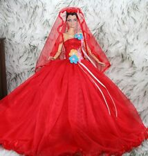 APHRODAI Fashion Silkstone Barbie Model Gown Outfit Dress for Dolls and Toys T8