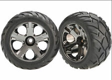 "Traxxas 3777A All-Star 2.8"" Wheels Anaconda Tires (2) Front Nitro Jato Rustler S"