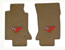 NEW! FLOOR MATS 1997-2004 C5 Corvette Crossed Flags Embroidered Emblem Logo Pair