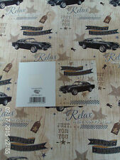 NEW MENS MALE CAR HAPPY BIRTHDAY GIFT WRAPPING PAPER 2 SHEETS + 1 GIFT TAG