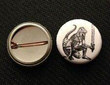 "AD&D Lizardman 1"" pin button - 1st Edition Trampier  Dungeons & Dragons"