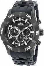 Invicta 50mm Men's Sea Spider Chronograph Grey Polyurethane Quartz Watch 21820