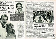Coupure de Presse Clipping 1987 (2 pages) Tom Selleck