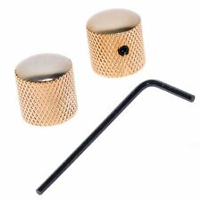 New 2 Pcs Gold Dome Guitar Knobs For Telecaster Tele or Jazz Bass JB Adjustable