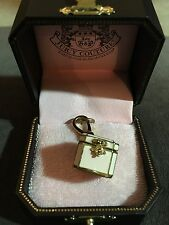 New JUICY COUTURE Jewelry Treasure Chest Trunk Charm CZ Heart Inside RARE!
