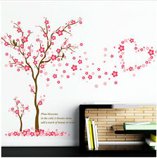 ❤️ Pink Cherry Plum Blossom Girls Room Wall Art Decals Mural Vinyl Stickers Tree