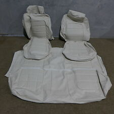 HQ Monaro GTS sedan Seat covers white flax reobuck vinly