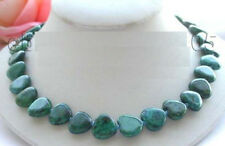 15mm heartshaped azurite gemstone loose beads necklace length: 18 ""