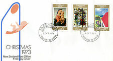 NEW ZEALAND 3 OCTOBER 1973 CHRISTMAS FIRST DAY COVER WELLINGTON FDI