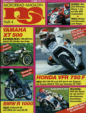 mo 4/86 1986 Honda VFR750F MZ 250 ETZ Gespann Yamaha XT500 Fallert BMW R 80 AJS