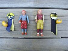Vintage Army Navy Football Celluloid Dolls & Pins - 1930s 1940s - Made in Japan