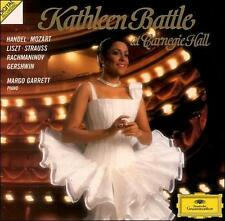 KATHLEEN BATTLE AT CARNEGIE HALL CD 1992 FREE SHIPPING~~MARGO GARRETT ON PIANO