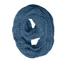 Women's Knitted Crochet infinity Winter Super Warm Solid Scarf Casual Loop Wrap