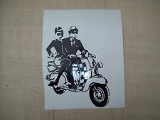 ( 1 ) SCOOTER BOY GIRL, SKA FUN,CAR,BIKE,VAN LEG SHIELD Decals Stickers