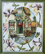 Cross Stitch Chart HONEYSUCKLE COTTAGE Nice to Frame or as a Cushion Cover