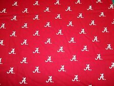 "UNIVERSITY OF ALABAMA - CRIMSON TIDE - "" A ""  DESIGN  1/2 YARD PIECE 100% COTTON"