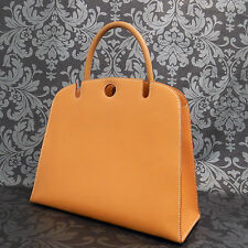 Rise-on Vintage HERMES Dalvy 30 Orange Brown Handbag Satchel Purse #63