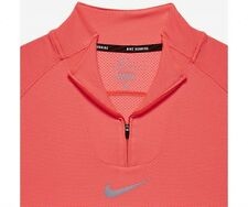 Nike AeroReact Half-Zip Langarm Laufshirt Gr. XL Total Orange Crimson 683904 657