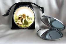 Holly Hobbie Compact Mirror dual sided & magnifying mirror with pouch