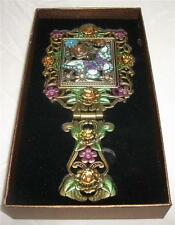 Art Deco Nouveau Style DRESSING TABLE BUTTERFLY CRYSTALS HAND MIRROR  Vanity