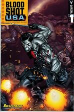 BLOODSHOT U.S,A.#1  Bulletproof Variant!  Diego Benard cover! NM 9.6+ Movie soon