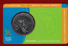 2006 Melbourne XVIII Commonwealth Games 50c Uncirculated Coin - Basketball