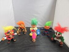 Troll Dolls 6 Figure Lot Sgt. Troll Ninja Pirate Football Player - Hasbro