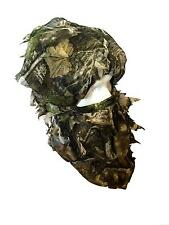 Camo Balaclava Face Veil Camouflage Head Mask Net Pigeon Shooting Sneaky Leaf
