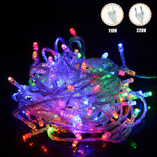 Colorful Fairy String Lights 10M 100LED Outdoor Garden Xmas RGB Decor Light Lamp