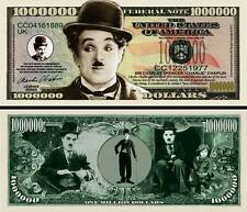 CHARLIE  CHAPLIN  . Million Dollar USA . Billet de commémoration / Collection
