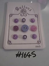 #1645 Lot of 9 Lilac Buttons