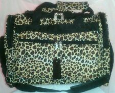"Leopard Animal Print 16"" Duffle Bag Weekender Suitcase Gym Tote 16"" New with Tag"