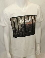 DKNY Jeans T-Shirt S-Sleeve Color Beige Sz Large New York V-Neck New