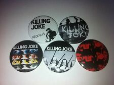 5 Killing Joke badges 25mm Night Time Love Like Blood Night Time Wardance 80's