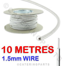 £1.20 PER METRE 10m of 1.5 HEAT RESISTANT HIGH TEMPERATURE RESISTANT WIRE CABLE